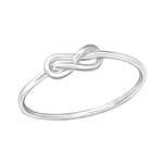 C1344-C37850 - 925 Sterling Silver Infinity Knot Ring, Bent Look