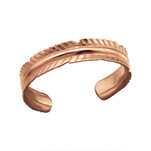 C1171-C21072 - Rose Gold Leaf Toe Ring, Adjustable