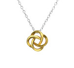 C1345-C27811 - 925 Sterling Silver Love / Friendship Knot Necklace 8mm