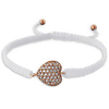 C369-18441 - Rose Gold CZ Heart Adjustable Corded Bracelet