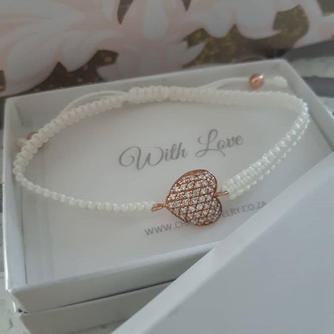 rose gold heart bracelet online shop in South Africa