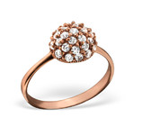 C348-C21690 - Rose Gold CZ Ring