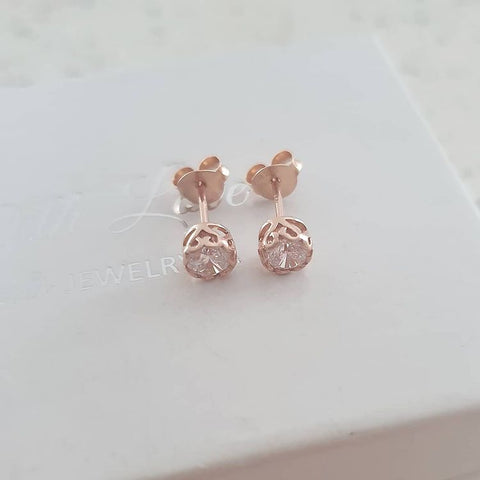 A274-C39523 - Rose Gold Plated Ear Stud Earrings, 5m