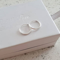 Sterling silver round hoop earrings for school