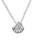 C541-C19511 - Sterling Silver Sea Shell Necklace 7x6mm, 45cm chain