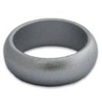 Men's Silicone Silver Sports Ring