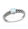 C212-C31873 - 925 Sterling Silver Braided Fire and Snow SN Opal Ring