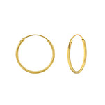 C854-C36662 - Gold Plated Round Hoop Earrings 18mm