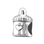 C922-C21708 - 925 Sterling Silver Baby Bottle European Charm Bead