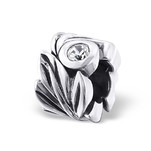 Sterling Silver CZ flower European charm bead online shop South Africa