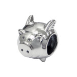 C920-C5447 - 925 Sterling Silver Pig European Charm Bead