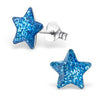 C288-C22553 - Sterling Silver Children's Star Earrings Pink, Blue or Silver