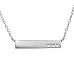 C836-C22361 - 925 Sterling Silver Hearts Bar Necklace