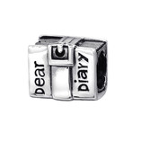 C665-C2867 - 925 Sterling Silver Diary European Charm Bead