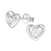 Buy Sterling silver CZ heart ear stud earring online shop in South Africa