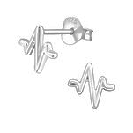 Buy Sterling Silver heart beat ear stud earrings online shop SA