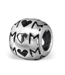 Sterling silver mom european charm bead