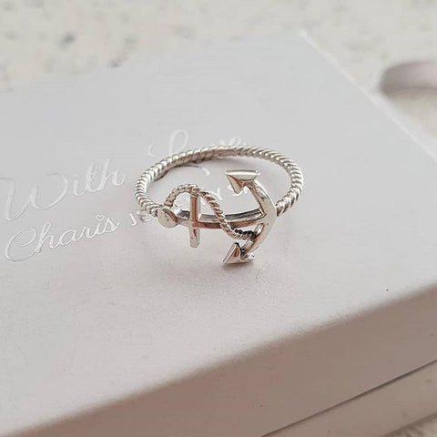C1420-C38982 - 925 Sterling Silver Anchor Ring