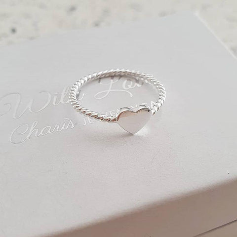C1371-C16888 - 925 Sterling Silver Heart Ring