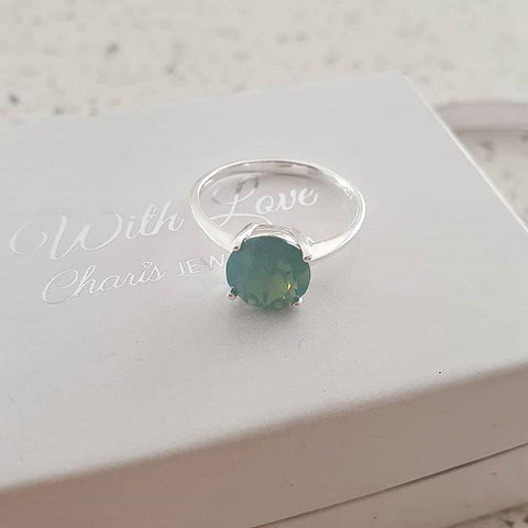 C324-C37822 - 925 Sterling Silver Pacific Opal Ring