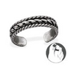 B94-C29405 - 925 Sterling Silver Chain Toe Ring, Adjustable Size