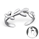 C327-C27177 - 925 Sterling Silver Vine Adjustable Toe Ring