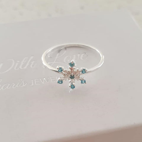 C557-C33903 - 925 Sterling Silver Snowflake Ring