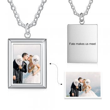 CNE105187 - Personalized Photo Necklace, Stainless Steel