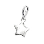 C447-C3105 - 925 Sterling Silver Star Dangle Charm