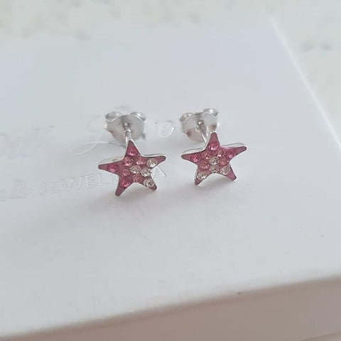 A236-C40989 - 925 Sterling Silver Children's Star earrings, 8mm