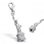 C18-C7307 - 925 Sterling Silver Statue of Liberty Charm Dangle