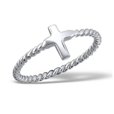 C655-C16887 - 925 Sterling Silver Cross Ring