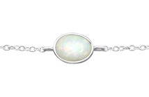 Sterling Silver Opal Fire and Snow Bracelet online store in South Africa