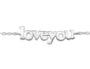C999-C31547 - 925 Sterling Silver Love You bracelet
