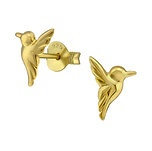 C1019-C31804 - Gold Plated 925 Sterling Silver Bird Earrings