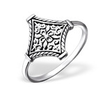 C910-C25128 - 925 Sterling Silver Patterned Bali Style Ring