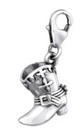 C178-C29512 - 925 Sterling Silver Boot Dangle Charm