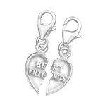 Sterling Silver Best Friends Charms for Charm Bracelets