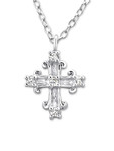 C239-C23538 - 925 Sterling Silver CZ Cross Necklace