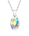 C1177-C27742 - 925 Sterling Silver Shimmering Swarovski Crystal Necklace
