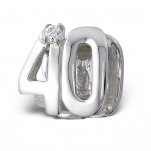 40th birthday gift silver European bead charm South Africa