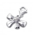 C705-C3308 - 925 Sterling Silver Bow Charm Dangle for Charm Bracelet