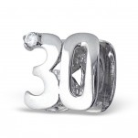 Sterling silver 30th birthday 30 european charm bead