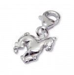 C21-C3115 - 925 Sterling Silver Horse Dangle Charm for charm bracelet
