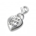 C9-C9846 - 925 Sterling Silver Live Love Laugh Dangle Charm
