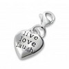 Sterling Silver live laugh love charm for charm bracelet jewellery store