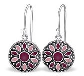 C165-C25883 - 925 Sterling Silver Round Dangle Earrings