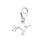 C32133 - 925 Sterling Silver Dog Charm