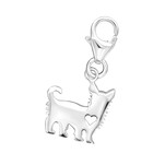 C32118 - 925 Sterling Silver Dog Charm