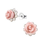 Sterling silver rose flower earrings in South Africa